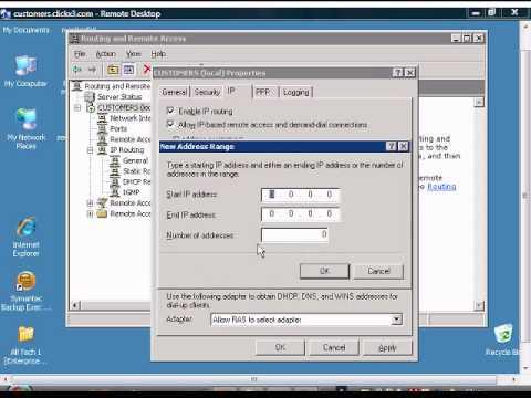 Setup Windows VPN server to use static IP addresses for clients