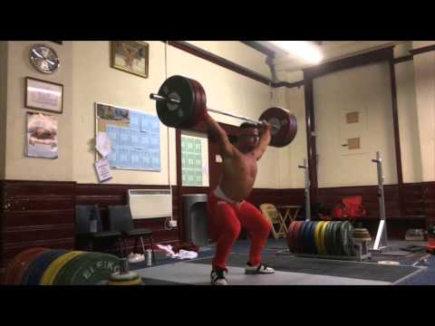 sonny Webster weightlifting Training video 24/10/14 HEAVY SINGLES