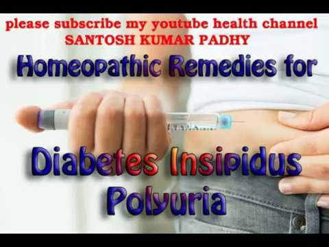 Homeopathic treatment for Diabetes Insipidus.
