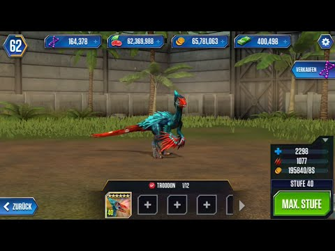 Jurassic World Das Spiel 42 Troodon Lvl40 Ammonit 60fps
