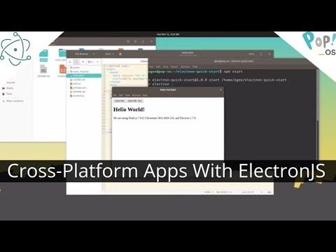 Build cross-platform desktop apps with Electron