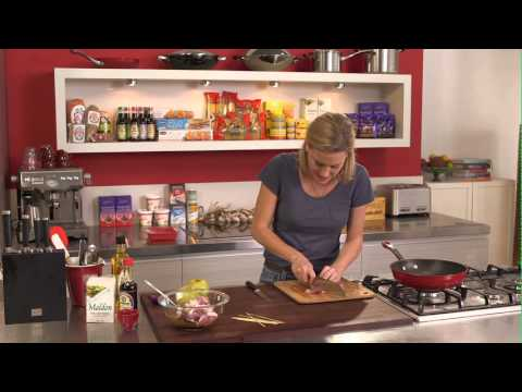 Everyday Gourmet with Justine Schofield Luv-a-Duck Duck and Nashi Pear Skewers w Soy Glaze