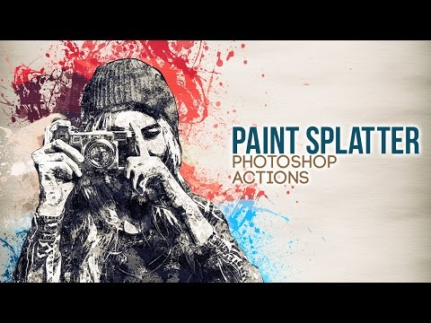 Paint Splatter Photoshop Actions - HOW TO USE