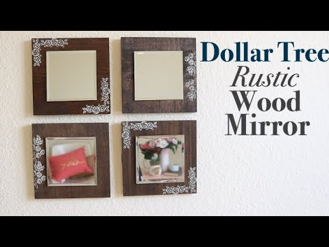DOLLAR TREE DIY Wood Mirrors DIY WALL MIRROR