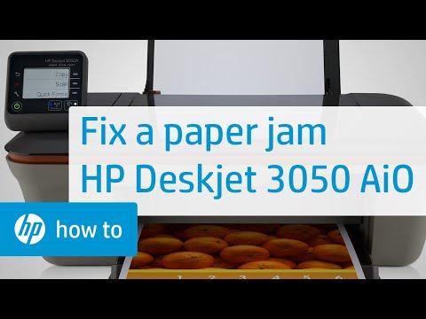 Fixing a Paper Jam - HP Deskjet 3050 All-in-One Printer