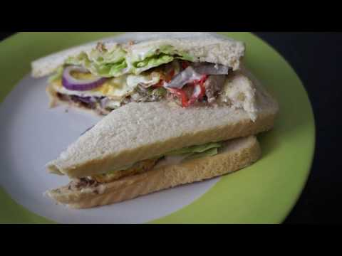 Sardine & egg sandwich