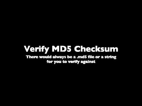 How to verify MD5 Checksum using Windows