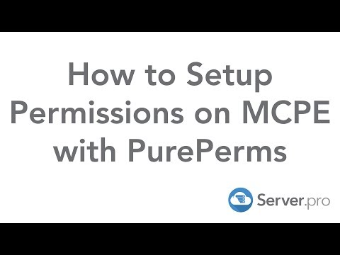 How to Setup Permissions on MCPE with PurePerms - Server.pro