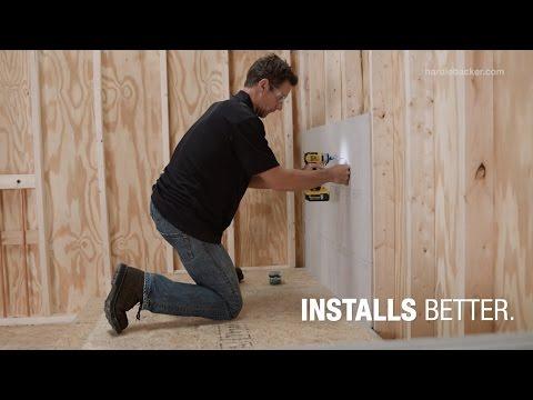 HardieBacker® Cement Board – Installs Better