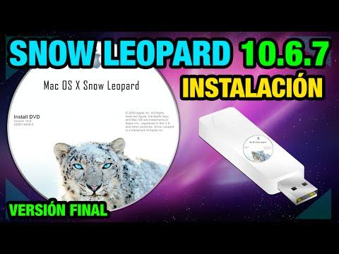 MAC OSX | Instalación de Snow Leopard 10.6.7