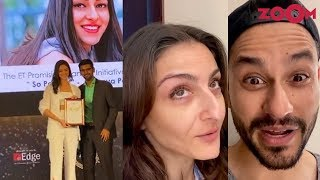 Ananya Panday gets an award | Soha Ali Khan and Kunal Kemmu's cute tongue twister video | Insta Zoom
