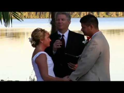 Paradise Cove Wedding with Orlando Wedding Officiant  407-521-8697