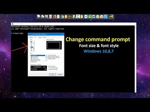 How to Change Font size & Font in CMD