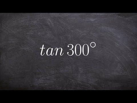 Learn how to evaluate the tangent of 300 degrees using the unit circle