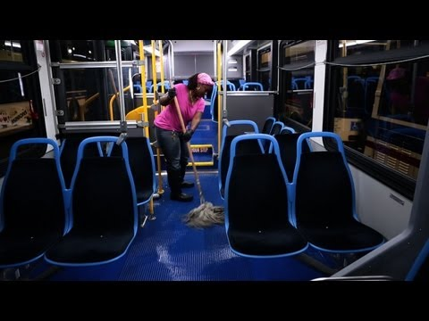 CTA bus cleaning is detail focused