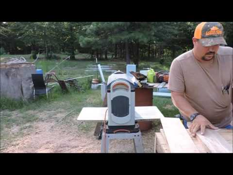 Making a log into a cutting board