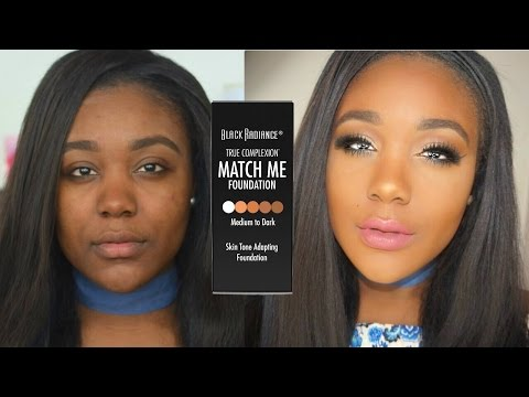 NEW Drugstore Foundation Routine Black Radiance Match Me review & demo + tips