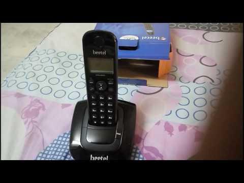 BEETEL X66N CORDLESS LANDLINE PHONE UNBOXING AND FISTLOOK [HINDI]