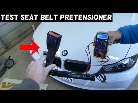 HOW TO TEST SEAT BELT PRETENSIONER TENSIONER BMW E90 E91 E92 E93