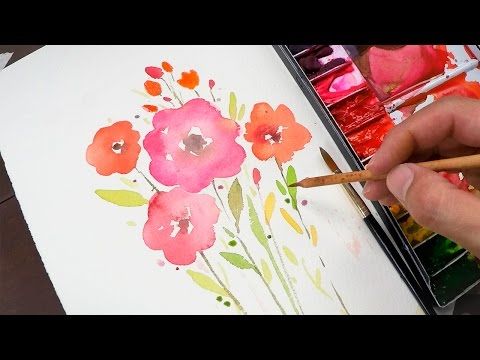 Watercolor painting for beginners (simple and easy)
