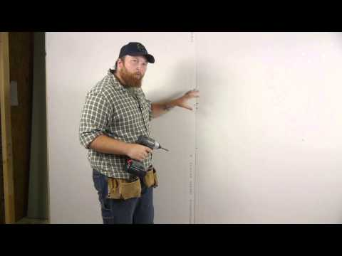 How to Install Drywall to a Wall With Screws : Wall Repair
