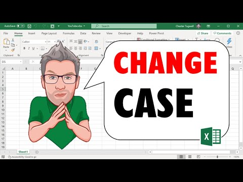 Excel Change Case With or Without Formula - Upper, Lower, Title Case