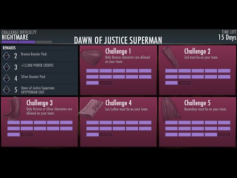 Injustice Android Superman Dawn of Justice Mode NightMare Desafio