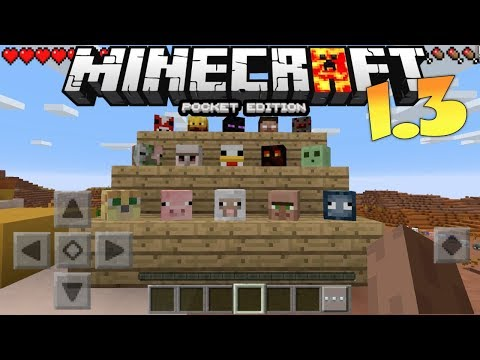 MCPE 1.3 OUT!??? MINECRAFT PE 1.2 CUSTOM HEADS GAMEPLAY ADDON / CONCEPT