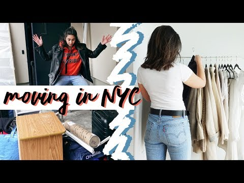 NYC MOVING VLOG: 1st time showing him the apartment, & what I've bought so far! 2018