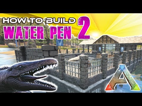 Large Water Pen How To Build | Ark Survival