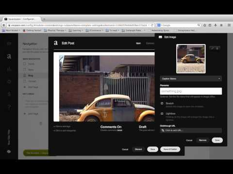 How to set up a blog on squarespace