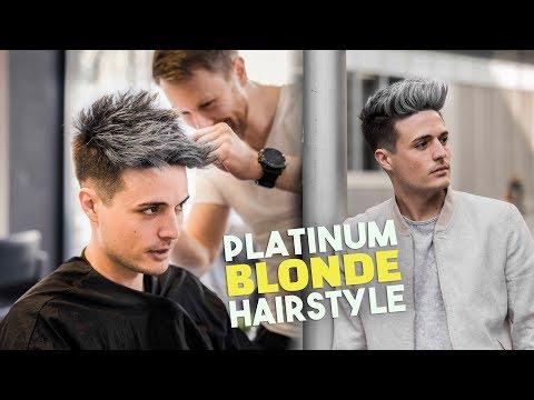 Platinum Blonde Hair TRANSFORMATION | Men's Hairstyle Tutorial | BluMaan 2018