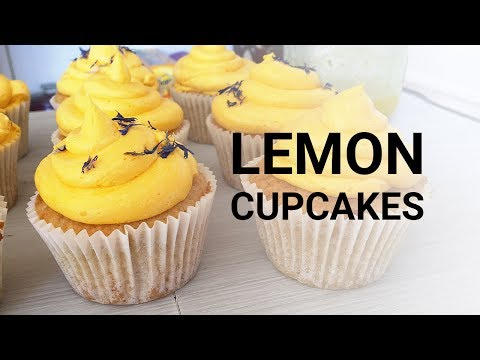 LEMON CUPCAKES | VEGAN RECIPE