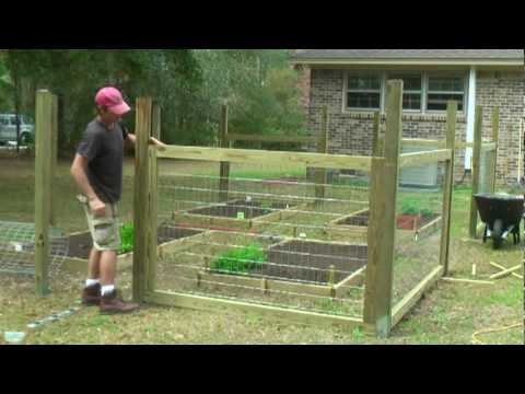 How to build a simple garden fence