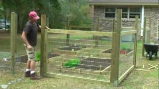 Simple Garden Fence Ideas cheap garden fencing ideas youtube How To Build A Simple Garden Fence