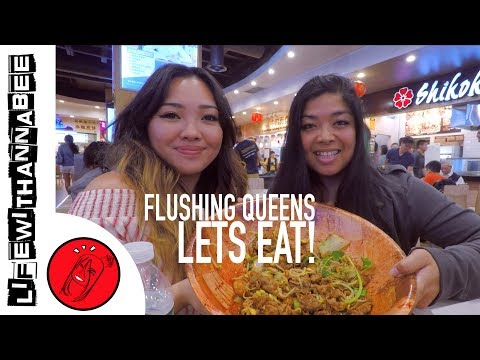 Crazy NYC Food Crawl in Chinatown Flushing - New World Mall | LifewithAnnaBee