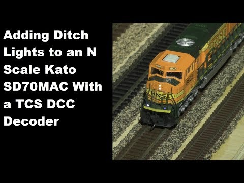 Adding Ditch Lights to a Kato SD70MAC Using the TCS K1D4