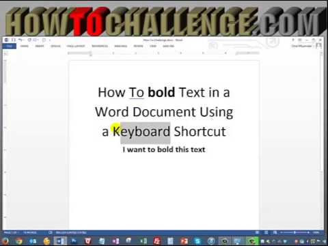 How To bold Text in a Word Document Using a Keyboard Shortcut