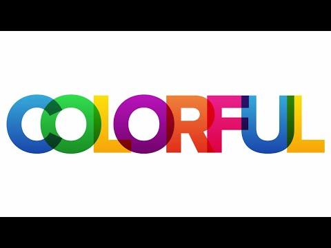 Colorful Overlapping Text Effect | Photoshop Tutorial