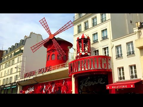 Paris Walk - MOULIN ROUGE on Boulevard de Clichy - France