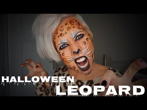 Cat Leopard Halloween Makeup schminken deutsches Tutorial Alicia_Wunderbar