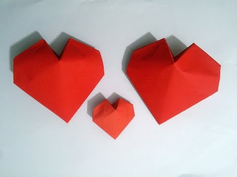 Valentine's Day ideas: Origami 3D Paper Heart