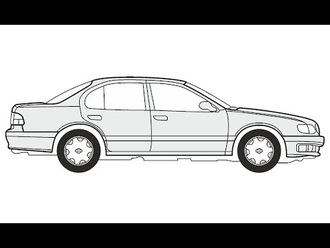 How to Draw a Nissan Maxima QX / Как нарисовать Nissan Maxima QX