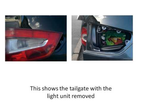 Ford Galaxy 2009 tailgate brake bulb replacement / installation