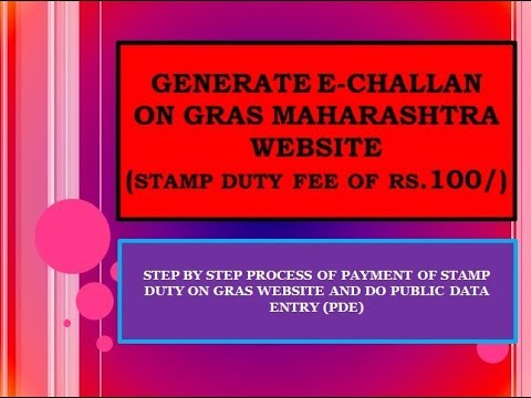 Step by Step payment of stamp duty on IGR GRAS website online: Rs.100 e challan