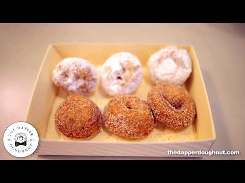 The Dapper Doughnut     Powdered Sugar & Cinnamon Sugar Doughnuts