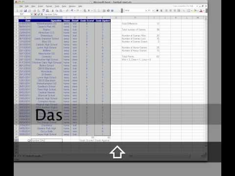Spreadsheets Training Session 5 - Excel 2003