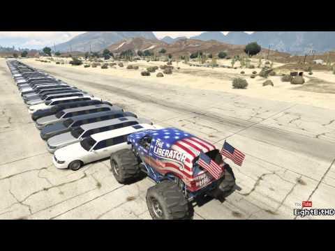 Monster Truck Destroy Cars