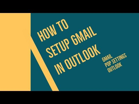 How to setup gmail in outlook. gmail pop settings outlook