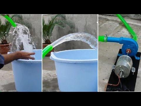 How to Make a SUPER Powerful Small WATER PUMP // 15ft Pumping
